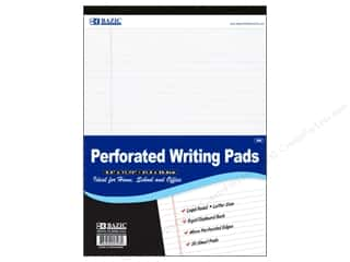 craft & hobbies: Bazic Basics 8 1/2 x 11 3/4 in. Perforated Writing Pad 1 pc. White