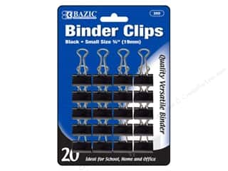 craft & hobbies: Bazic Basics Binder Clips 3/4 in. Black 20 pc.