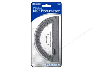art, school & office: Bazic Basics 180 degree Protractor 6 in.