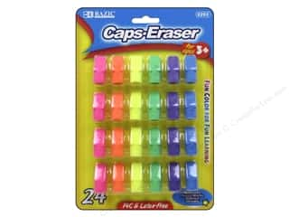 art, school & office: Bazic Basics Eraser Caps 24 pc. Neon