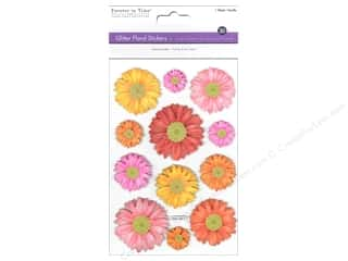 theme stickers  floral: Multicraft Sticker Glitter 3D Floral Mums