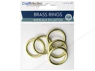 craft & hobbies: Craft Medley Brass Ring 1 in. 5 pc.