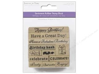 Rubber Stamps: Multicraft Rubber Stamp Pack Happy Birthday