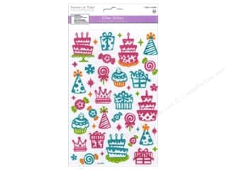 stickers  glitter: Multicraft Sticker Glitter Let's Celebrate