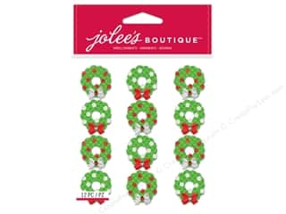 stickers: EK Jolee's Boutique Embellishment Repeats Christmas Wreaths