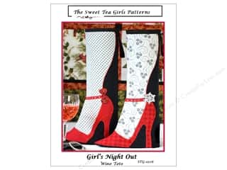 add a quarter: Sweet Tea Girls Girl's Night Out Wine Tote Pattern