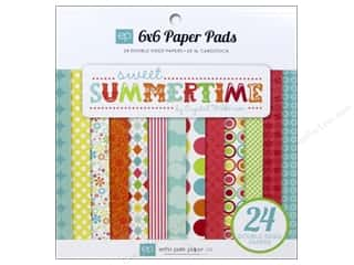 """Bo Bunny Paper Pads 6""""x 6"""": Echo Park Paper Pad 6 x 6 in. Sweet Summertime"""
