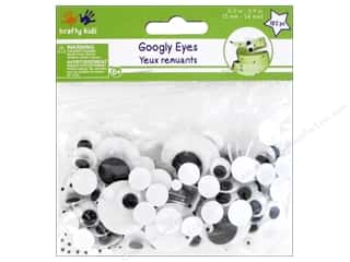 beading & jewelry making supplies: Multicraft Krafty Kids Googly Eyes 5mm-24mm
