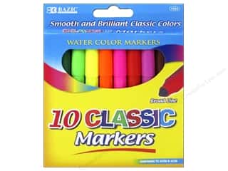craft & hobbies: Bazic Basics Markers 10 pc. Broad Classic