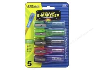 art, school & office: Bazic Basics Pencil Sharpeners 5 pc. Pencil's Cap