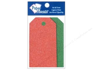 gifts & giftwrap: Craft Tags by Paper Accents 1 5/8 x 3 1/4 in. 10 pc. Glitz Christmas