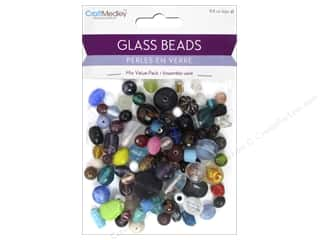 beading & jewelry making supplies: Multicraft Bead Glass Mixed 8.8oz