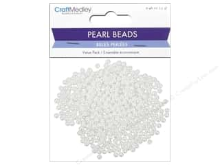 beading & jewelry making supplies: Multicraft Bead Pearl 4mm White 480pc