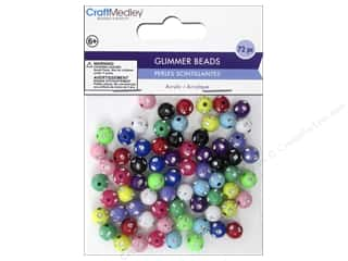 Resin/Synthetic Bead: Multicraft Bead Glimmer 8mm Round 72pc