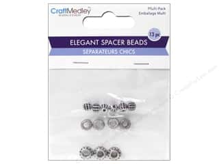 beading & jewelry making supplies: Multicraft Bead Elegant Spacer Round Antique Silver
