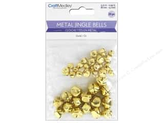Mulitcraft Embellishments Jingle Bells 8mm-15mm Gold 35pc