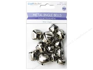 Mulitcraft Embellishments Jingle Bells 20mm-30mm Silver 14pc