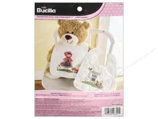yarn & needlework: Bucilla Stamped Cross Stitch Kit 9 x 14 in. Little Red Riding Hood Bibs