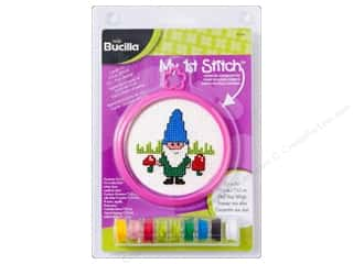 yarn & needlework: Bucilla Counted Cross Stitch Kit 3 in. My 1st Stitch Gnome