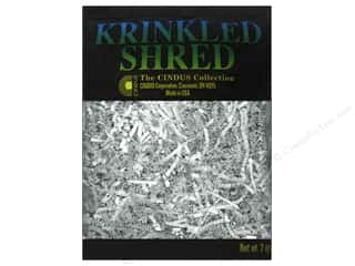 Cindus: Krinkle Shred by Cindus 2 oz. Metallic Silver & White