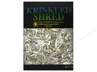Cindus: Krinkle Shred by Cindus 2 oz. Metallic Gold & White