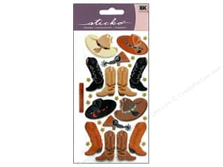 EK Sticko Stickers Cowboy Hats and Boots