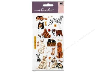 die cuts: EK Sticko Stickers Dog Daze