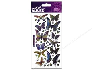 die cuts: EK Sticko Stickers Metallic Foil Butterflies