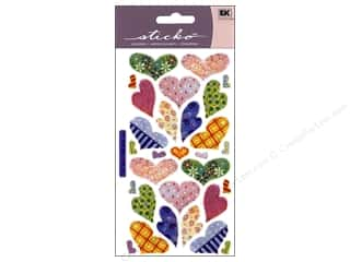 Sticko Vellum Stickers - Hearts Pastel