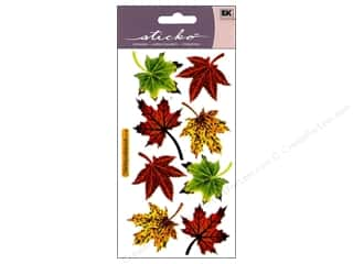 stickers: EK Sticko Stickers Vellum Maple Leaves