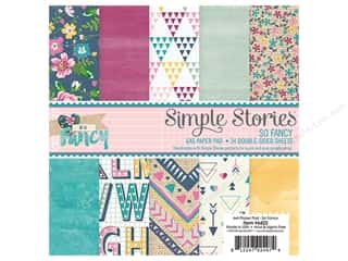 "Bo Bunny Paper Pads 6""x 6"": Simple Stories Collection So Fancy Paper Pad 6""x 6"""