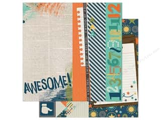 """Simple Stories So Rad Collection Paper 12"""" x12"""" Element 2""""x 12""""/4""""x 12"""" Assorted Picture"""