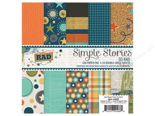 "Bo Bunny Paper Pads 6""x 6"": Simple Stories Collection So Rad Paper Pad 6""x 6"""