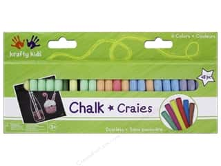 Multicraft Krafty Kids Chalkboard Chalk Colors 48pc