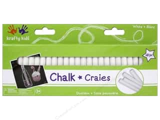 Multicraft Krafty Kids Chalkboard Chalk White 48pc