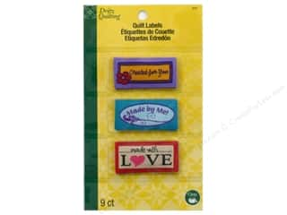 Labels: Dritz Sew In Quilting Label Made Assorted 9 pc.