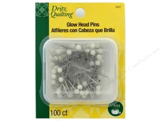 Dritz Pins Quilting Glow Head 100pc
