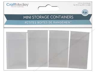 "storage : Multicraft Organizer Storage Container 2""x 1""x .5"" 4pc"