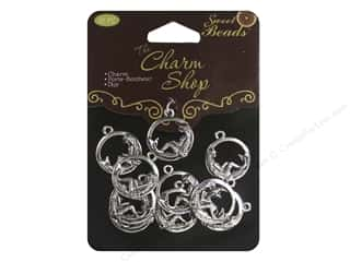 Sweet Beads Charms Metal Mermaid 10 pc. Silver