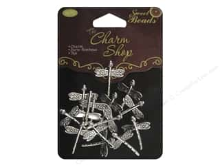 Sweet Beads EWC Charm Shop Metal Dragonfly Silver 14pc