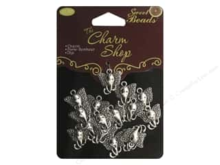 Sweet Beads Charms Metal Elephant 22 pc. Silver