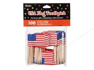 craft & hobbies: Darice Toothpicks USA Flag 100pc
