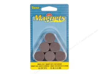 craft & hobbies: Darice Round Magnets with Foam Adhesive 3/4 in. 18 pc.