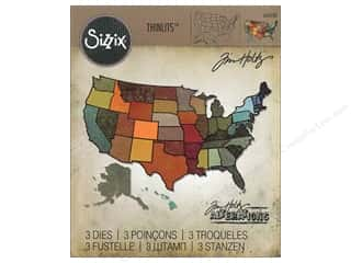 die cuts: Sizzix Thinlits Die Set 3 pc. United States
