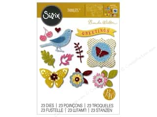 floral wreath: Sizzix Thinlits Die Set Floral Wreath by Brenda Walton