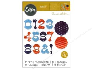 die cuts: Sizzix Thinlits Die Set 15 pc. Numbers & Frames