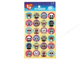 Darice Sticker Beanie Boo Jungle Paper 96 pc