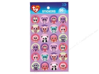 theme stickers: Darice Sticker Beanie Boo Girl Paper 96pc