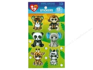 Darice Sticker Beanie Boo Jungle 3D 12pc