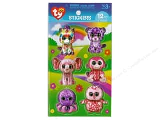Darice Sticker Beanie Boo Girl 3D 12 pc